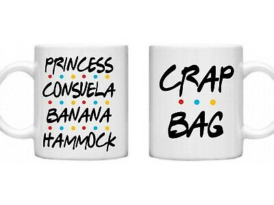 Friends Double Mug Set Princess Consuela Crap Bag His Hers Gifts For Couples  • 12.49£