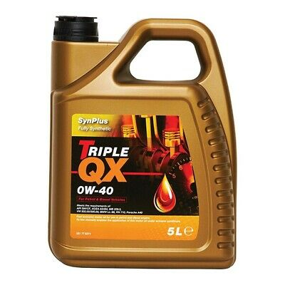 5 Litres Triple QX SynPlus Fully Synthetic 0W40 Car Motor Engine Oil Multigrade • 40.25£