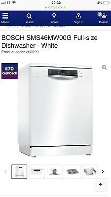 View Details Bosch Dishwasher Brand New In Packaging. Series 4 SMS46MW00G • 300.00£