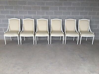 $1995 • Buy Ej Victor Luxar Dining Arm Chairs Platinum 600 Finish (9301-27) Set Of 6