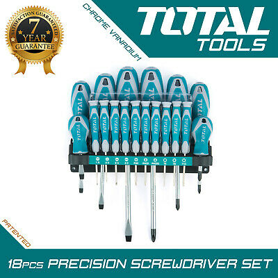 Total Tools - 18PCS MAGNETIC SCREWDRIVER Precision Set With Soft Grip Long Reach • 17.78£