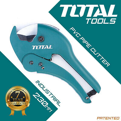 PVC PIPE CUTTER 3mm - 42mm Ratchet Scissor Plastic Tube Hose Cutting Total Tools • 14.29£