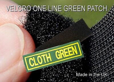 £4.99 • Buy Velcro Green Cloth 1 Line Personalised Name Patches Tag Biker Patch