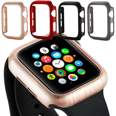 $ CDN5.09 • Buy For Apple Watch Series 4 3 2 IWatch 38/44mm Shockproof PC Protective Case Cover