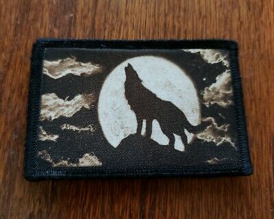 $7.99 • Buy Lone Wolf Morale Patch Tactical Military Army Badge Flag USA Hook