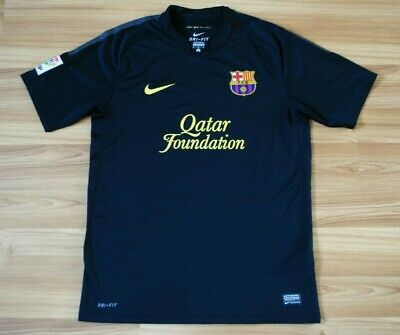 bdfc12ded0f Size M Barcelona 2011-2012 Away Football Soccer Shirt Jersey Camiseta Black  Nike • 39.99