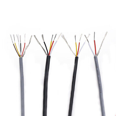 AU6.75 • Buy 2/3/4Core UL2547 Spiral Shielded Wire Tinned-Copper PVC Cable 22/24/26/28AWG