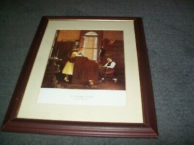 $ CDN102.91 • Buy Norman Rockwell-The Marriage License Framed Print.Excellent Condition