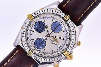 View Details Breitling Chronomat Mother Of Pearl Chronograph Automatic Men's Watch Steel Gold • 2,950.00£