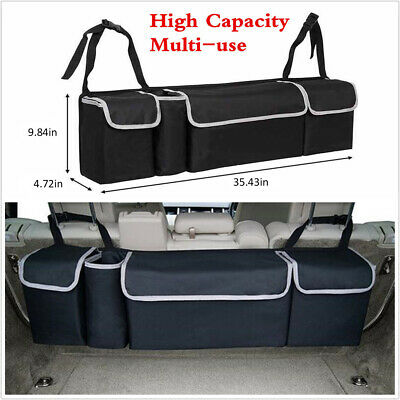 $21.99 • Buy High Capacity Multi-use Car Seat Back Organizers Bag Interior Accessories Black