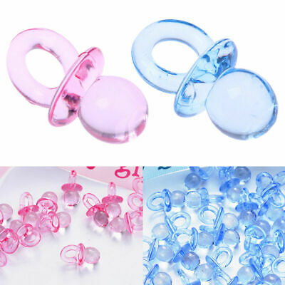 Baby Shower Party Favours Blue Pink Pacifiers Christening Party Cake Decorations • 3.59£