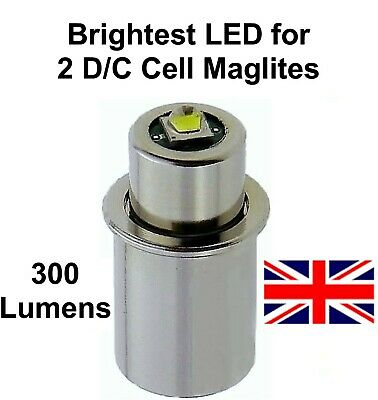 MAGLITE LED UPGRADE Conversion Bulb CNC 2D 2C Cell Torch Flashlight UpLED • 12.95£