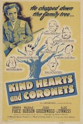 Kind Hearts And Coronets Poster//Kind Hearts And Coronets Movie Poster//Movie Po • 21.85£
