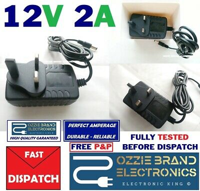 To Fit 12V Floureon CCTV DVR Camera KITS Power Supply Adapter 12V 2A AC/DC UK • 9.95£