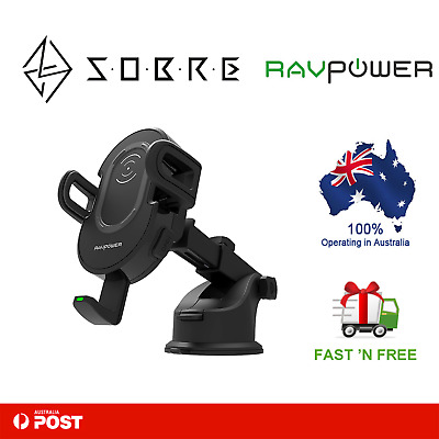 AU59.95 • Buy RAVPower 10W Wireless Charging Car Mount Holder Charger Qi Devices Smartphone