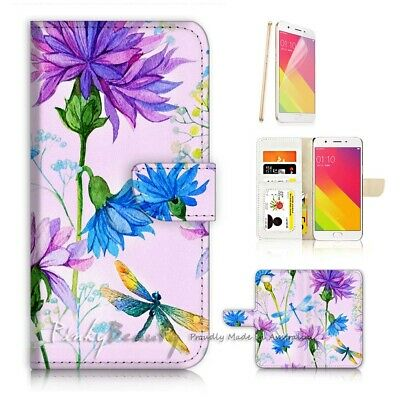 AU12.99 • Buy ( For Oppo A57 ) Wallet Case Cover P21759 Flower
