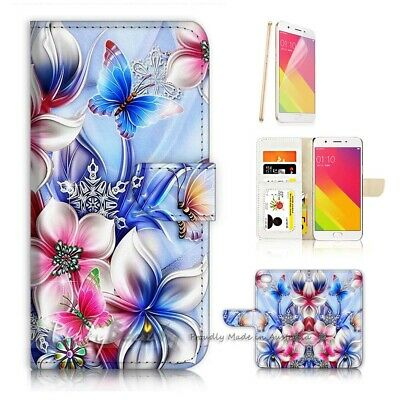 AU12.99 • Buy ( For Oppo A57 ) Wallet Case Cover P21751 Flower