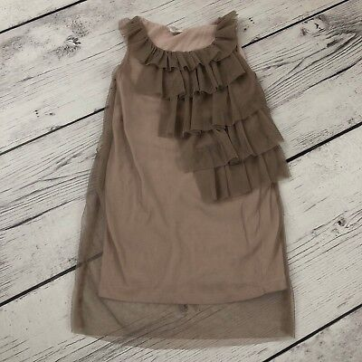 ef9c10795ea J Crew Crewcuts Tulle Time Dress Girls 4 5 Mauve Tiered Holiday Flower Girl  •