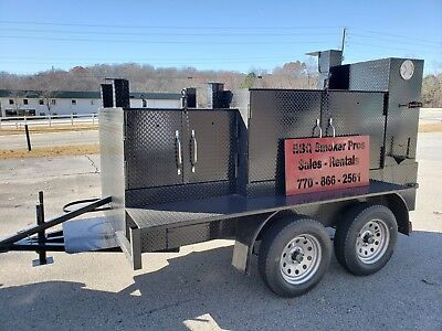 $7499 • Buy Rotisserie Pro Double Gril Master BBQ Smoker Grill Trailer Food Truck Concession