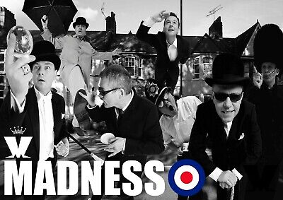 £6.99 • Buy Madness Poster - Ska Band - #4 - 80's Music Poster - A3 - 420mm X 297mm (NEW)