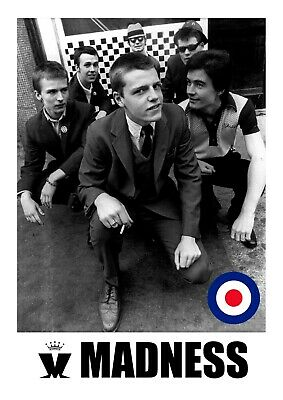 £6.99 • Buy Madness Poster - Ska Band - #9 - 80's Music Poster - A3 - 420mm X 297mm (NEW)