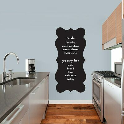 $28.60 • Buy Fancy Chalkboard Wall Decal - Organizing, List Making, Kitchen, Mudroom, Entry
