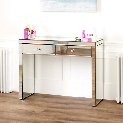 £189 • Buy Venetian Mirrored 2 Drawer Dressing Table - Glass Side Console Drawers - VEN66