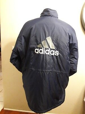 finest selection 57e02 2ab72 Vintage Adidas Winter Coat 90s Equipment Jacket Trench Spell Out Sz Xxl  Embroide • 37.99