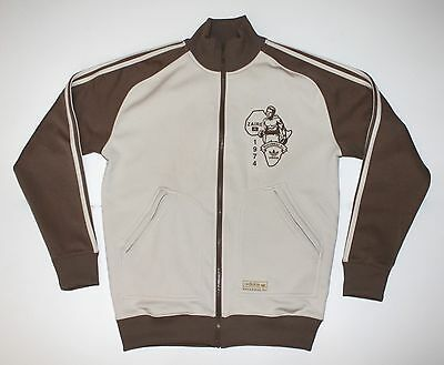 $80 • Buy Adidas Muhammed Ali Zaire 1974 Retro Track Jacket Size Small Pre-Owned