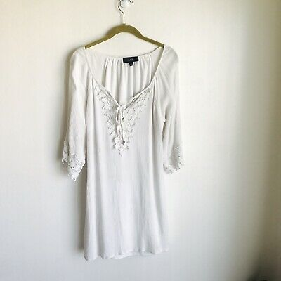 Naif White Double Top Embroidery At Cuffs And Collar Size S • 14.31£