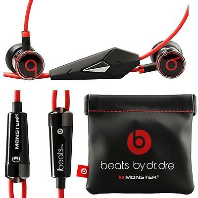 $ CDN34.08 • Buy Genuine Monster Beats, Beats By Dr. Dre IBeats Headphones - Black With Pouch
