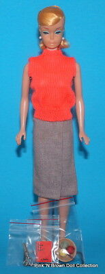 $ CDN529.30 • Buy Vintage 1964 PONYTAIL SWIRL Barbie Doll Blonde W/Sweater Girl Fashion Clothes