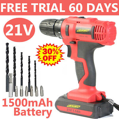 View Details Fast Charge 21V Cordless Combi Drill Dual Speed Electric Screwdriver Powerful • 33.90£
