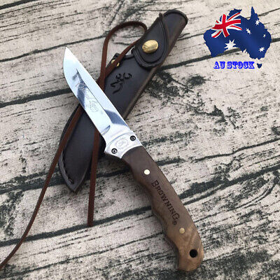 AU27.99 • Buy 028# Camping Outdoor Fixed Blade Knife Browning Shadow Wood Small Hunting AU
