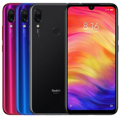 Xiaomi Redmi Note 7 32GB (FACTORY UNLOCKED) 6.3 3GB RAM Black Blue Red (Global) • 164.99$