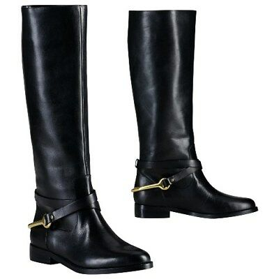 7135432cc0f Ralph Lauren Jenny Leather Tall Riding Boots POLO BLACK 7.5B Womens NEW •  249.99