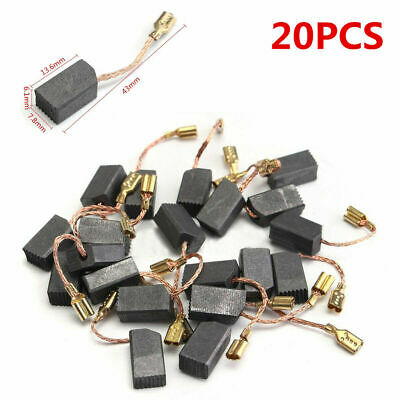 20pcs Motor Carbon Brushes For Angle Grinder Rotary Hammer Drill Tool 6x8x14mm • 1.46£