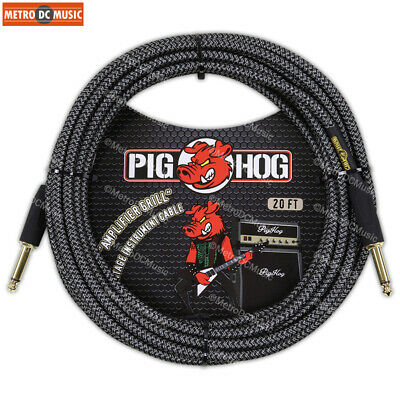 $ CDN44.75 • Buy Pig Hog 1/4  Amp-Grill Tweed Guitar Instrument Cable Cord 20ft