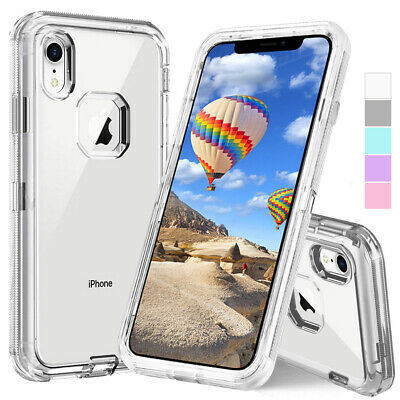 AU6.77 • Buy Clear Crystal Defender Hybrid Heavy Duty Shockproof Case Cover For Apple IPhone