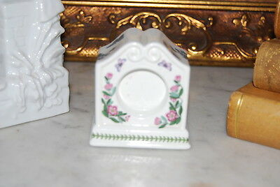 Portmeirion Miniature Mantel Clock Case - Botanic Garden Design Good For Picture • 23.13£