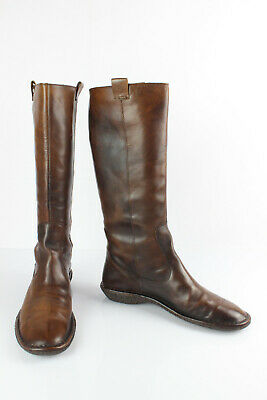 $43.89 • Buy Nana' Riding Boots Brown Leather Beautiful Patina T 39 Good Condition