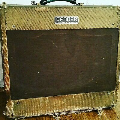 $ CDN4665.56 • Buy Vintage 1954 Fender Tweed Deluxe Guitar Amplifier    5D3  Wide Panel