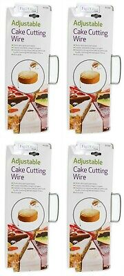 4 X Cake Cutter Bread Wire Slicer Cutting Leveller Decorating Utensil Steel Tool • 8.99£
