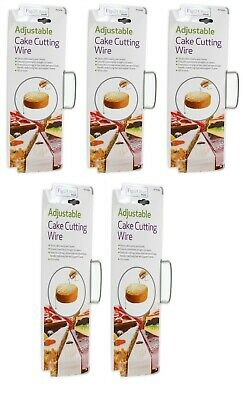 5 X Cake Cutter Bread Wire Slicer Cutting Leveller Decorating Tool Sugarcraft • 10.99£