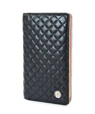 4b62bb7b9e94 Authentic CHANEL Black Quilted Leather CC Long Wallet Coin Purse #32308 •  179.00$