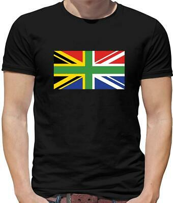 £12.95 • Buy South African Union Jack Mens T-Shirt - UK Flag - South Africa - Country