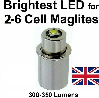 MAGLITE LED UPGRADE Conversion Bulb 3D 4D 6D D C Cell UpLED Torch Flashlight • 12.95£