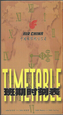 $5.99 • Buy Air China System Timetable 10/29/00 [9031] Buy 4+ Save 25%