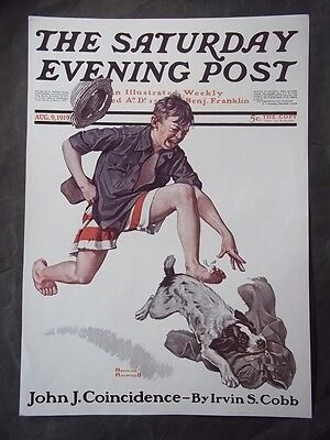 $ CDN18.73 • Buy Saturday Evening Post August 9 1919 Norman Rockwell (COVER ONLY) Reprint