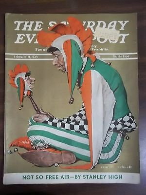 $ CDN44.50 • Buy Vintage Saturday Evening Post February 11,1939 Norman Rockwell Cover